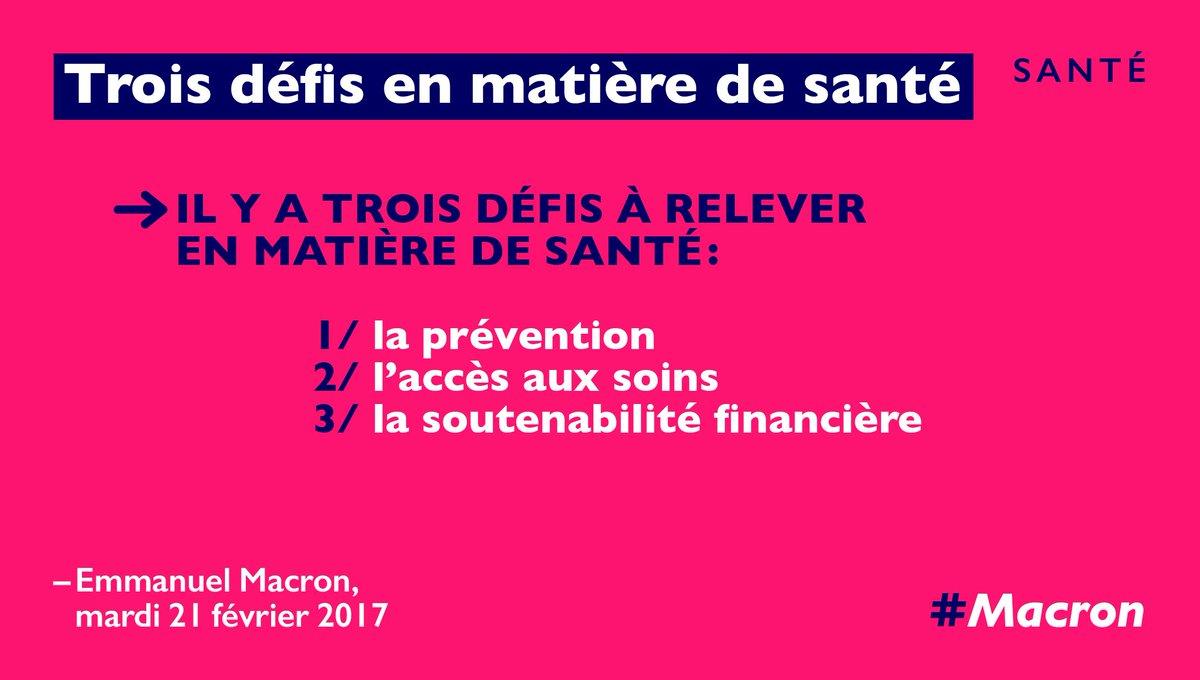 Trois défis à relever en matière de santé. #RDVPlacedelaSante https://...