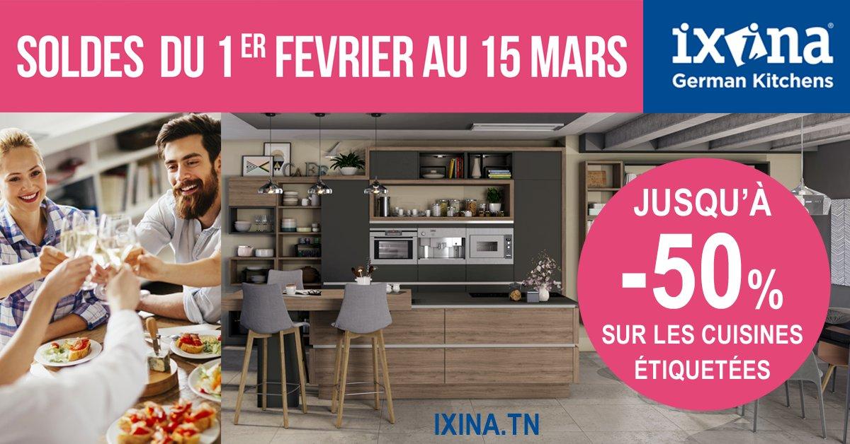 C&#39;est carrément les #SOLDES chez #Ixina !  Jusqu'à -50% sur les #cuisines étiquetées !   http://www. ixina.tn  &nbsp;  <br>http://pic.twitter.com/d0CpsiMdNa