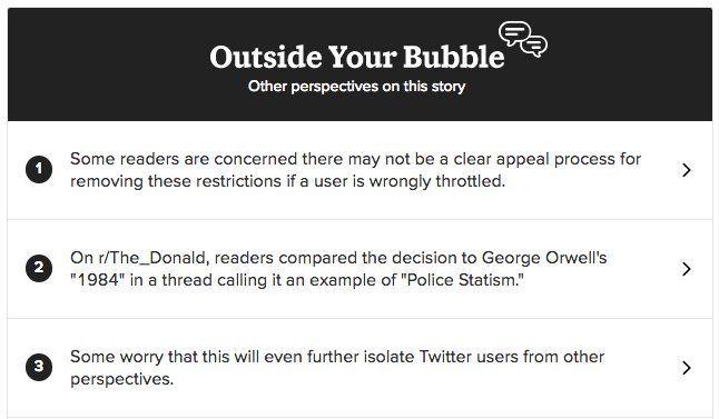 Le nouveau pari de #Buzzfeed dans la lutte aux &quot;fake News&quot; ? faire sortir les gens de leur &quot;bulle sociale&quot;  http:// buff.ly/2m4i4ZW  &nbsp;  <br>http://pic.twitter.com/TTwBnQukCs