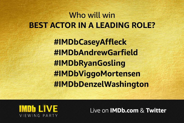 Who will win Best Actor in a Leading Role? Use the branded hashtag below to submit your vote! #Oscars
