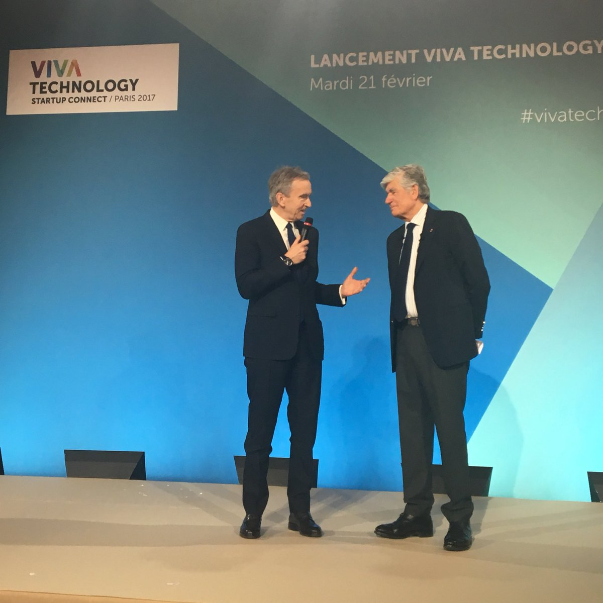 Bernard Arnault (Chairman & CEO, @LVMH) on stage to launch #VivaTe...