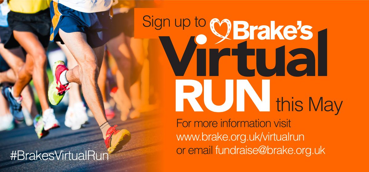 Sign up to #BrakesVirtualRun this #CharityTuesday! Earlybird prices ju...