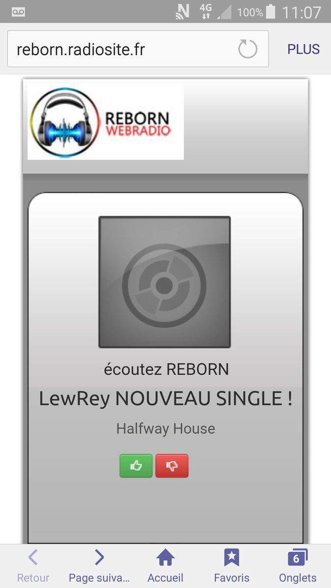 @lew_rey en diffusion sur @REBORNWEBRADIO en ce moment avec la nouvelle version de Halfway House  #NewMusic #songoftheyear #playlist<br>http://pic.twitter.com/TC9ye9NG5F