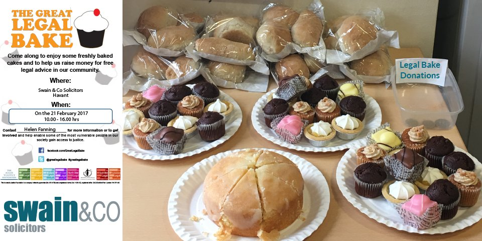 @SwainSolicitors are pleased to be taking part in the @greatlegalbake - here are some of our yummy treats! #legalbakeoff #greatlegalbake https://t.co/eHH69CFoTJ