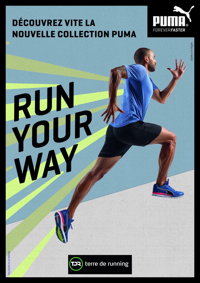 La nouvelle collection #running chaussures et textile #PUMA est disponible dans vos boutiques Terre de running. #runyourway<br>http://pic.twitter.com/b6Z6u4h4EJ
