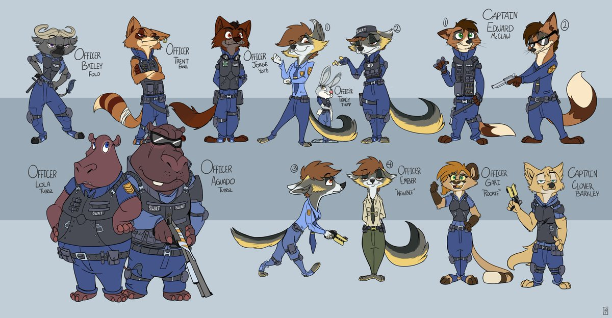 &quot;ZooBlues: A Zootopia Story&quot; Concept art of Precinct 1: City Center&#39;s S.W.A.T. team. #Zootopia #ZooBlues #Spinoff #ConceptArt<br>http://pic.twitter.com/SY5WdywpDC