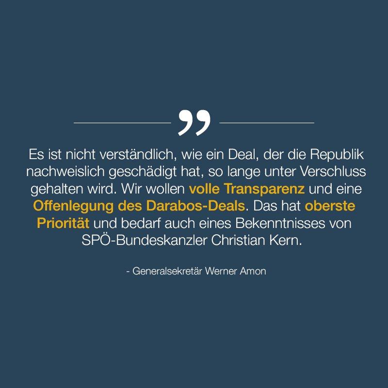 'Wir fordern die Offenlegung des #Darabos-Deals.' GS #Amon #ÖVP #FürÖs...