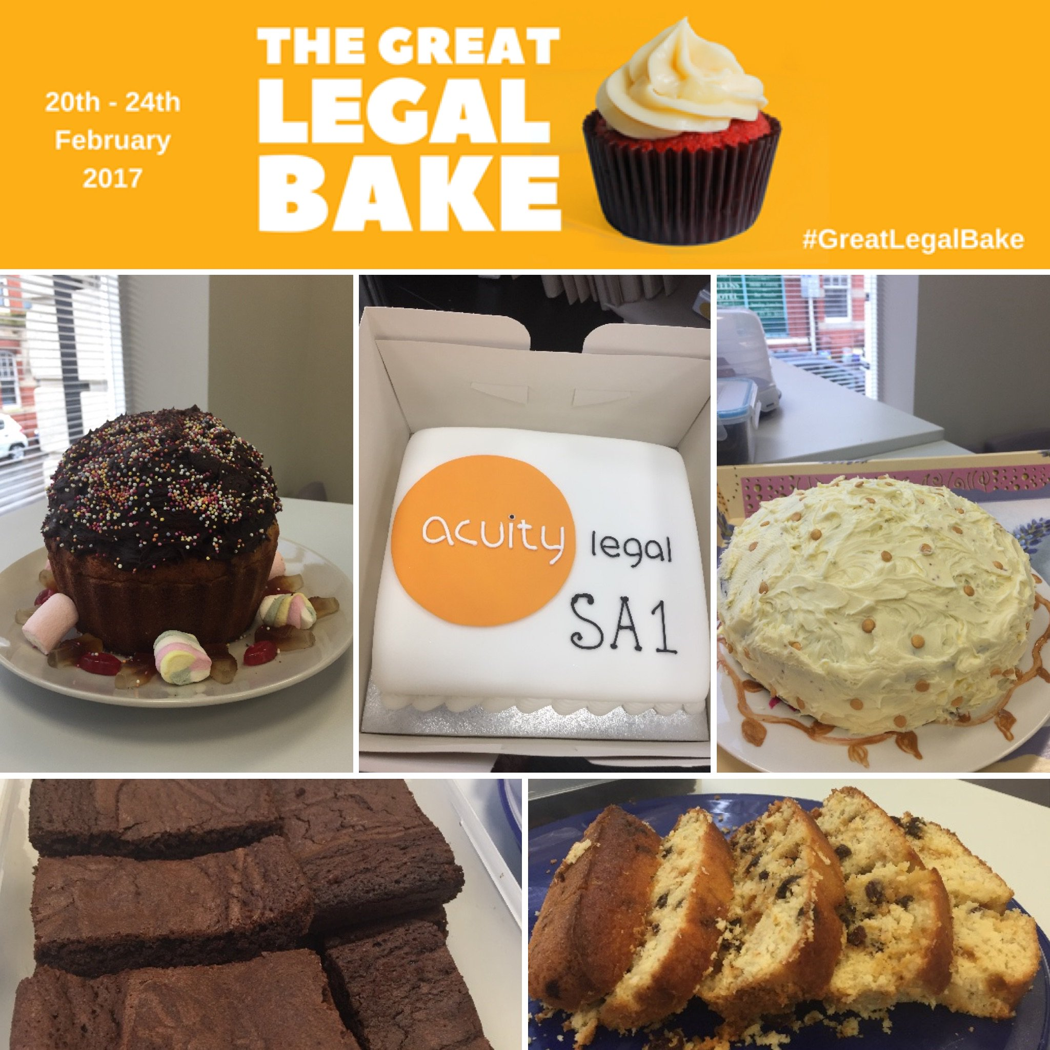 Some delicious #cakes from our #Swansea office! Still waiting for the results from judges. #Greatlegalbake is going well for Acuity Legal! https://t.co/YrE2DHoZAx