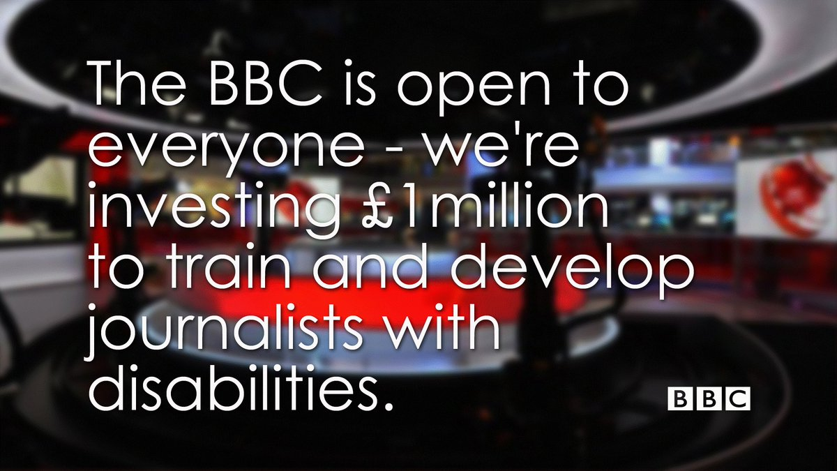 BBC News launches £1M scheme for journalists with disabilities in #DisabilityWorks week https://t.co/3CVkyUmlIJ https://t.co/qMA5U9GxSw