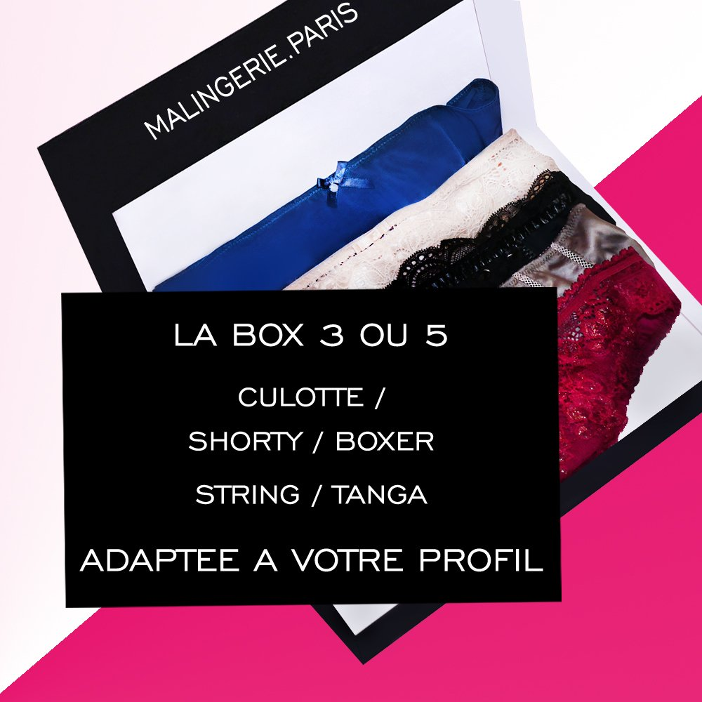 LA BOX 3 OU 5 STRING / TANGA / CULOTTE / SHORTY / BOXER ADAPTÉS A…  http:// bit.ly/2kFyjjj  &nbsp;   #fashion #MalingerieParis<br>http://pic.twitter.com/yDsY53zQLU