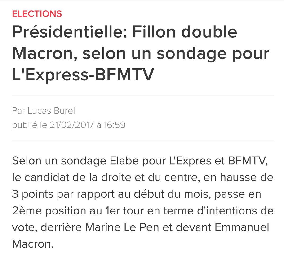 @FrancoisFillon en hausse de 3%  double @EmmanuelMacron en chute de 5%. L&#39;alternance passe par un vrai projet de réforme #Fillon2017  <br>http://pic.twitter.com/K9QPml3Ckn