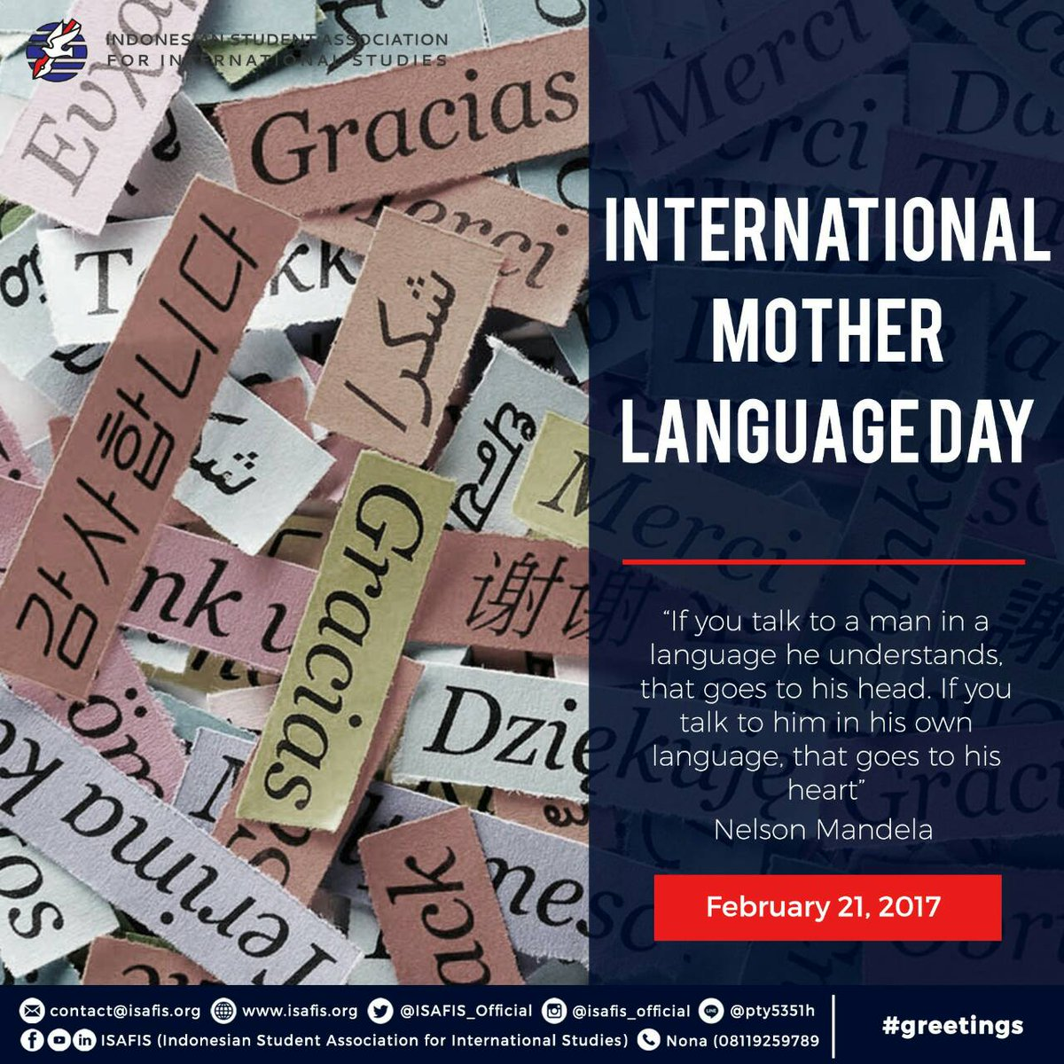 Isafis on twitter greetings be proud of your mother language and isafis on twitter greetings be proud of your mother language and celebrate its international day motherlanguageday isafis unesco un m4hsunfo