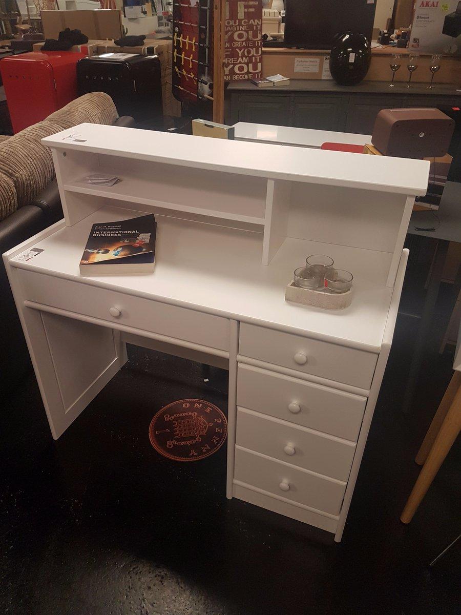 Gaby Solid White Pine Desk Extender