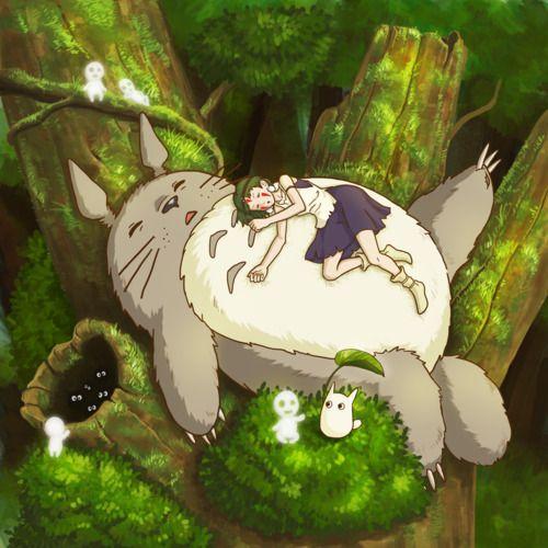Quand Princesse Mononoké pique une sieste sur Totoro #Ghibli #Fanart #Totoro #Mononoke<br>http://pic.twitter.com/5GdEBPnJtY