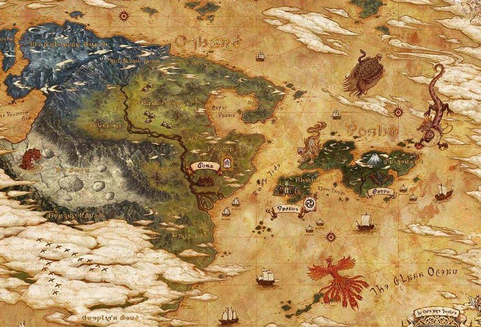Detailed map of Hydaelyn? : ffxiv