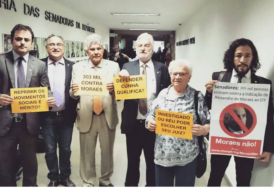 Bancada do PSOL contra a indicação de Alexandre de Moraes ao STF! #Iss...