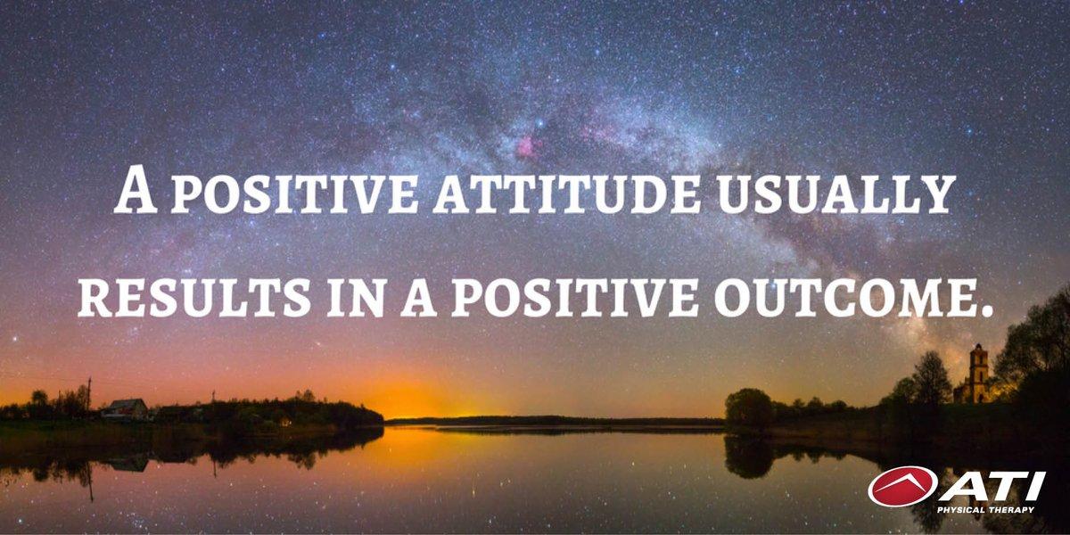 Positive Attitude = Positive Outcome. #TuesdayThought https://t.co/dlC...