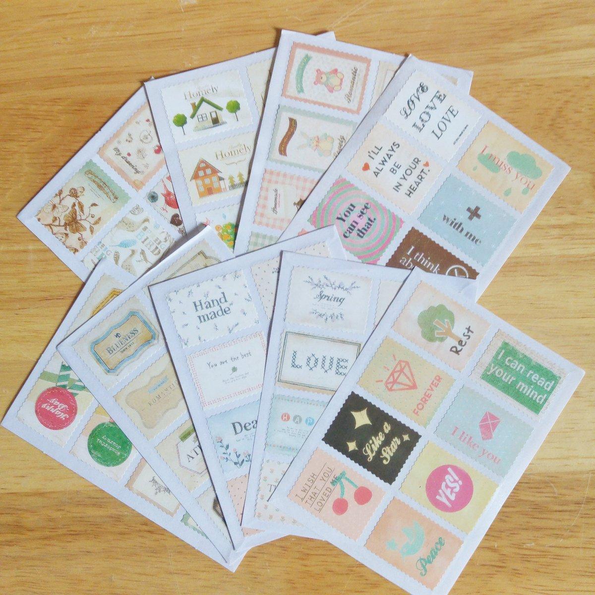 Des stickers timbres aux messages et aux motifs tout mignons vous attendent sur la boutique  #diy  #stickers  #planner  #scrapbooking<br>http://pic.twitter.com/LcBBATJjuN