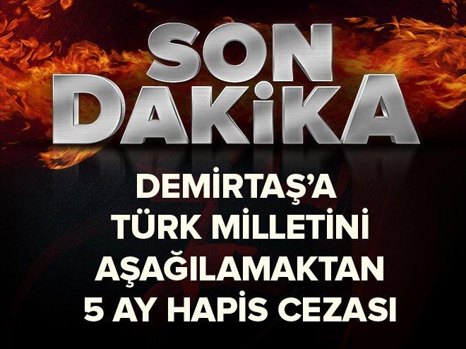 #SONDAKİKA Selahattin Demirtaş'a 5 ay hapis cezası https://t.co/OiFzYP...