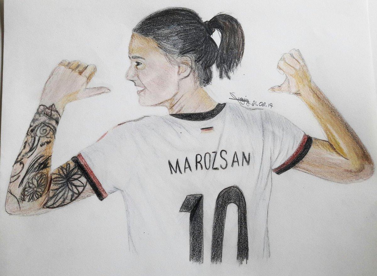 Portrait de Dzsenifer Marozsan !! @OLfeminin @OLAngElles  #dzsenifermarozsan #german #olfeminin #n10 #soccer #drawing #portrait #passion<br>http://pic.twitter.com/wD1iK7kyqf