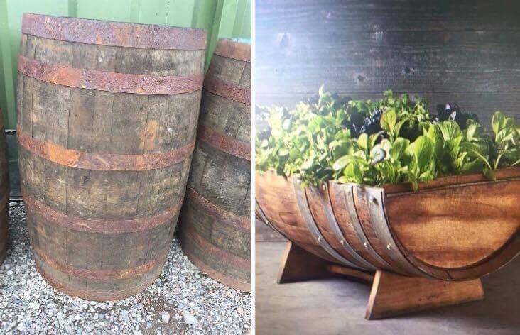 Solid oak used whisky//beer wooden barrel keg 200L garden pub table