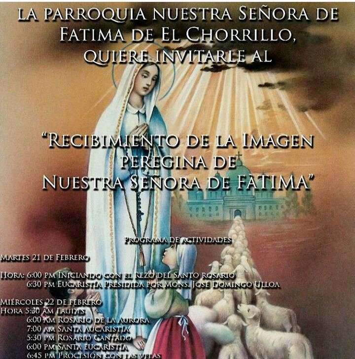 RT fetv05: #TrasmisiónEspecial desde la Iglesia de Fátima en El Chorri...