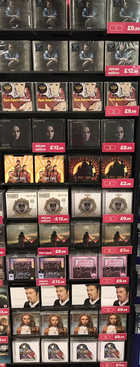 Trending this week and new releases lads &amp; lases! @RagNBoneManUK @LittleMix @UnaHealy @deafhavana and the new @takethat single #GIANTS!! <br>http://pic.twitter.com/FlXZ3MibEr