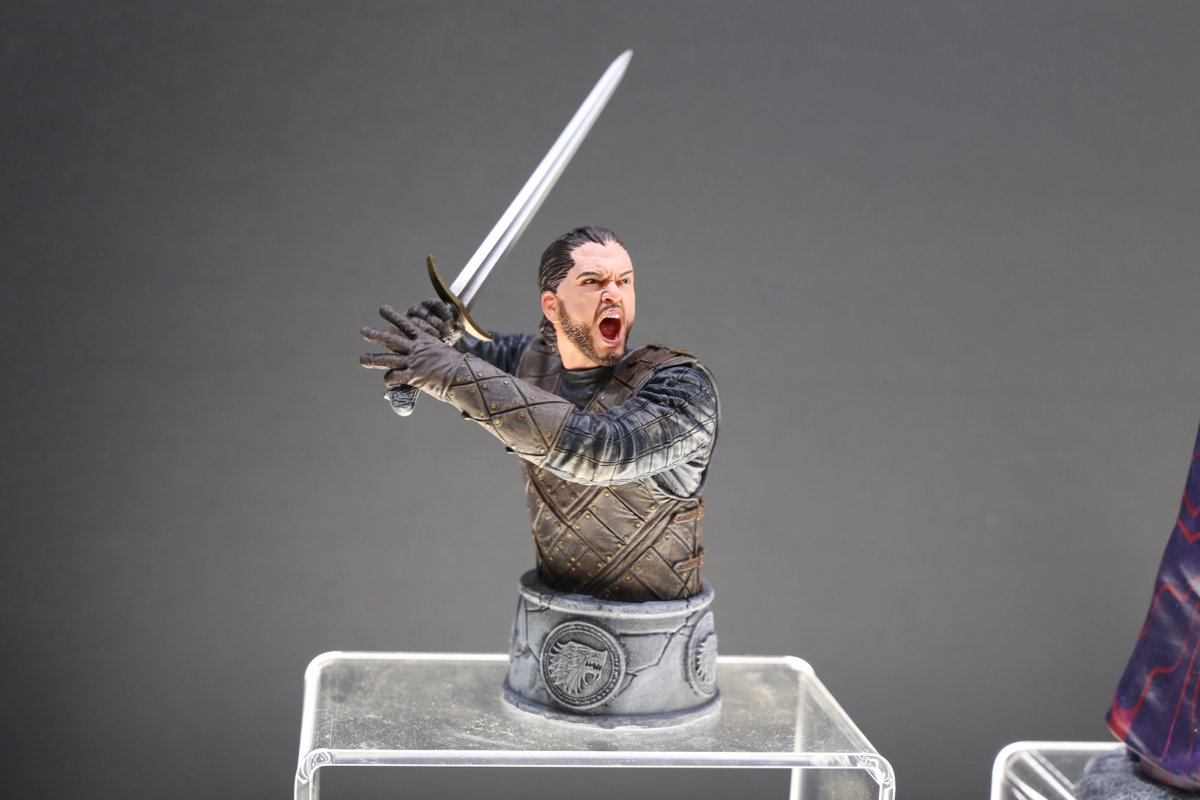 """""""Winter is coming."""" Take a look at the Jon Snow Bust by @DarkHorseComi..."""