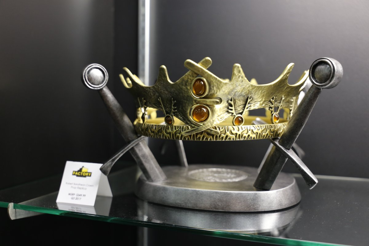 Rally the realm. Check out the @Factory_Ent Robert Baratheon Crown com...