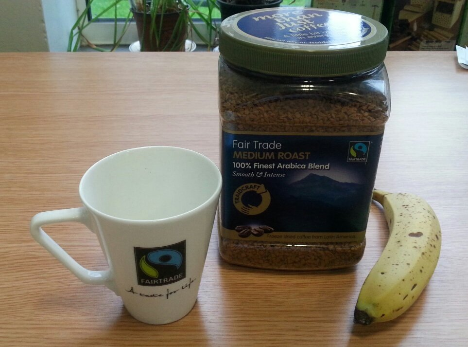 I'm putting #Fairtrade in my break and yes that is a large jar of coffee.  I like my coffee! #DMUTweetYourBreak https://t.co/A6QA37eOju