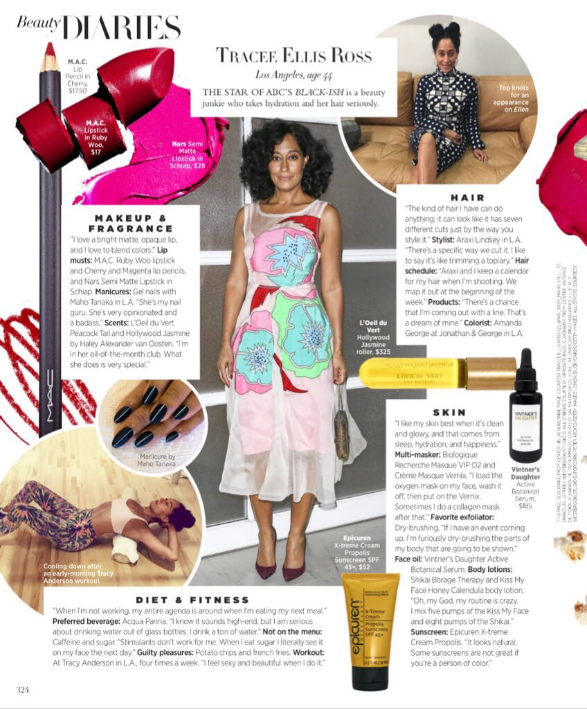 I'm sharing some of my beauty secrets in the March 2017 issue of @Harp...