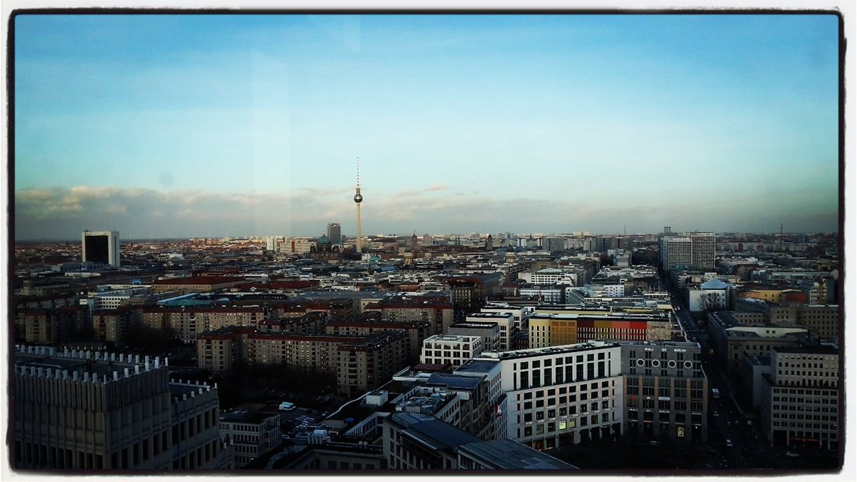 First visit to Deutsche Bahn tower today, with one of the best views over Berlin  #newadventures #beyond1435<br>http://pic.twitter.com/XyPXBmE8Pc