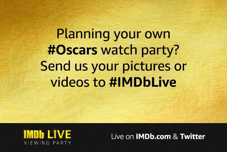 Send us your 📸 using #IMDbLive! #Oscars