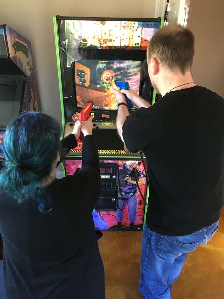 When your @airbnb has a built-in video arcade. #NoSleepLive2017