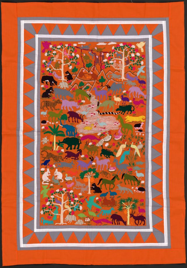 Beautiful #Hmong hand-stitched story cloth #map of mainland Southeast #Asia  https://t.co/XVh9evP9of https://t.co/DSsWb26lF0