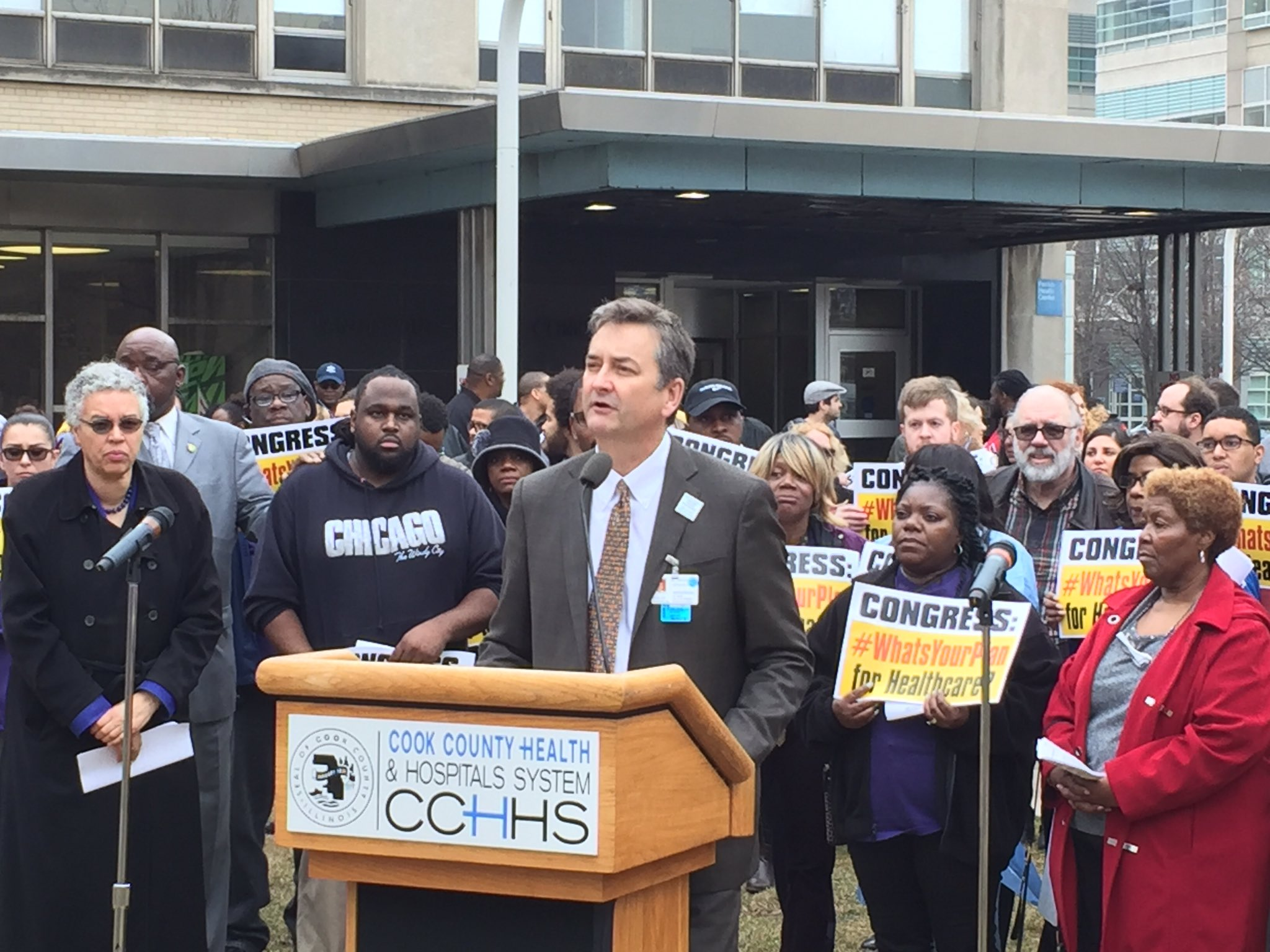 Dr Shannon, CEO  Cook County Hospitals: 'Repeal of #ACA / #Obamacare is cruel, forcing patients to choose care over needs' #WhatsYourPlan https://t.co/nhvRIfOFUV