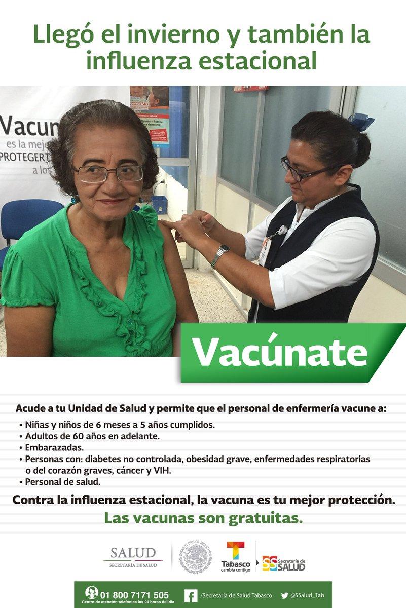 Vacúnate contra la #influenza en esta #TemporadaDeFrío. https://t.co/z...
