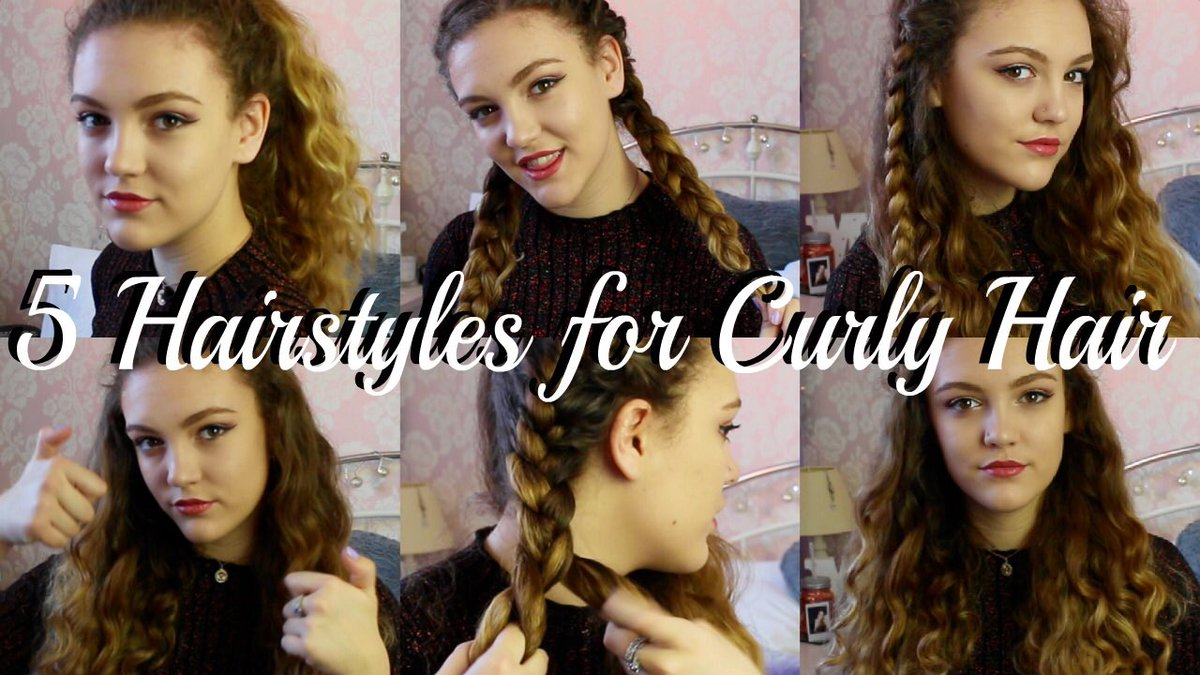 M O L L Y On Twitter 5 Hairstyles For Curly Hair Httpst