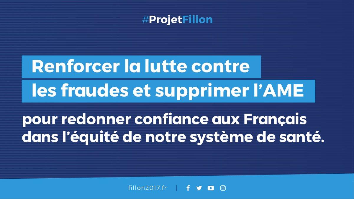 #fillon2017 renforcer la lutte contre les fraudes et supprimer l&#39;AME je vote Fillon <br>http://pic.twitter.com/bcyuBJwc9u