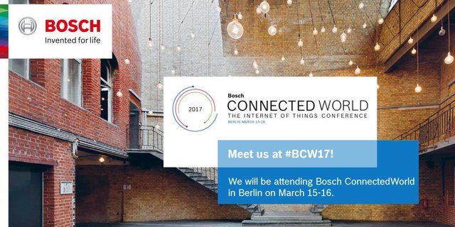 Meet us at Bosch ConnectedWorld 2017 - one of Europe's leading #IoT events. Want to join us? #BCW17 @Axway https://t.co/dBSIP37uxj https://t.co/tcMKcUWLgN