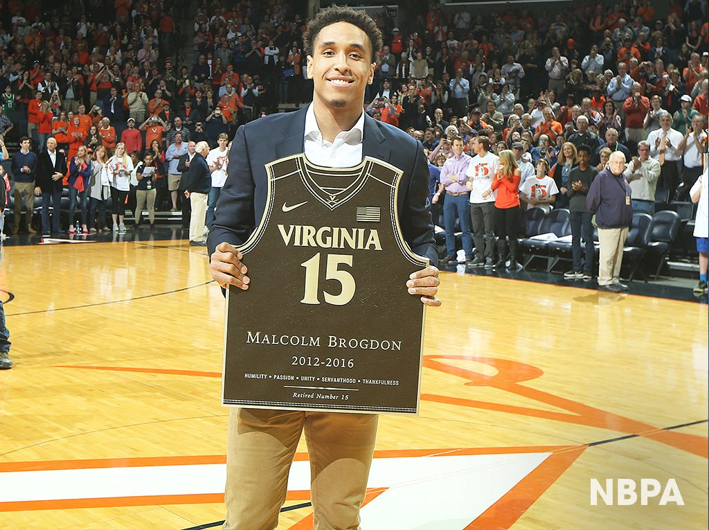 a7b7b27fca2 Malcolm Brogdon went from All-Star Weekend to getting his UVA jersey retired  last night.