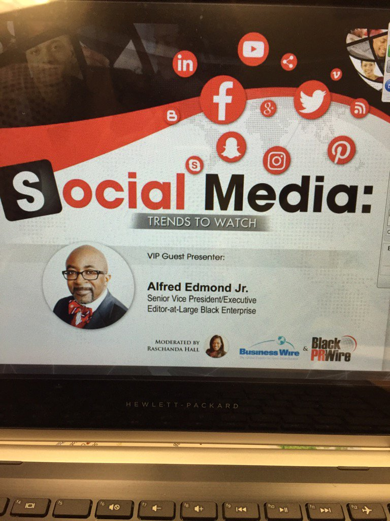 """Don't Play Yourself,"" powerful insights from Alfred Edmond Jr. during Social Media Trends. #bwbprw https://t.co/meOqu3Uwi1"