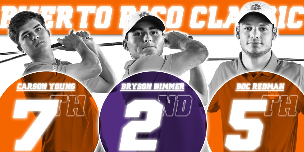 Bryson Nimmer, Doc Redman and Carson Young all finished in the top 10 of the Puerto Rico Classic to lead #Clemson's 11-shot victory! https://t.co/nCpczQ9RmE