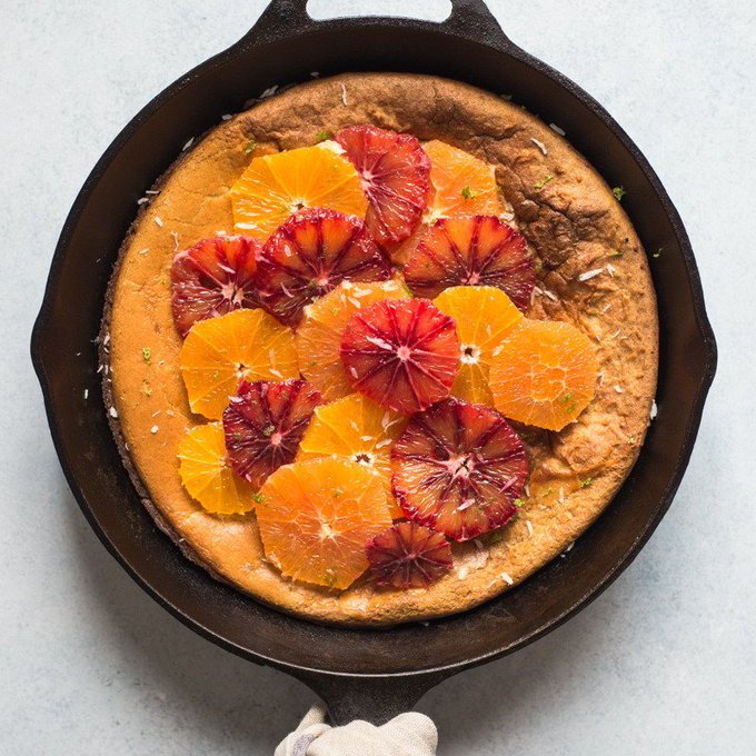 Gluten-Free Dutch Baby with Oats and Oranges
