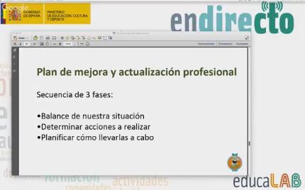 Plan de mejora y actualización profesional #AprendeINTEF #DirectoINTEF Evento de facilitación Nooc @educalab #AlDiaEnRed @egonzalezcamara https://t.co/YmVxbsrRN8