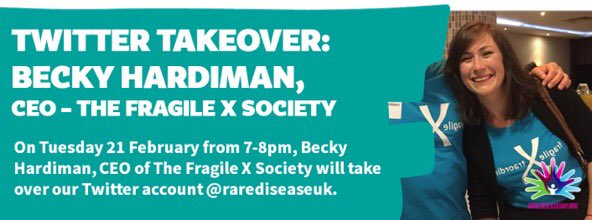 In just 20 minutes, @Becky_Hardiman CEO of @fragilexuk will be taking over our Twitter account! https://t.co/JBeHsvWT8P