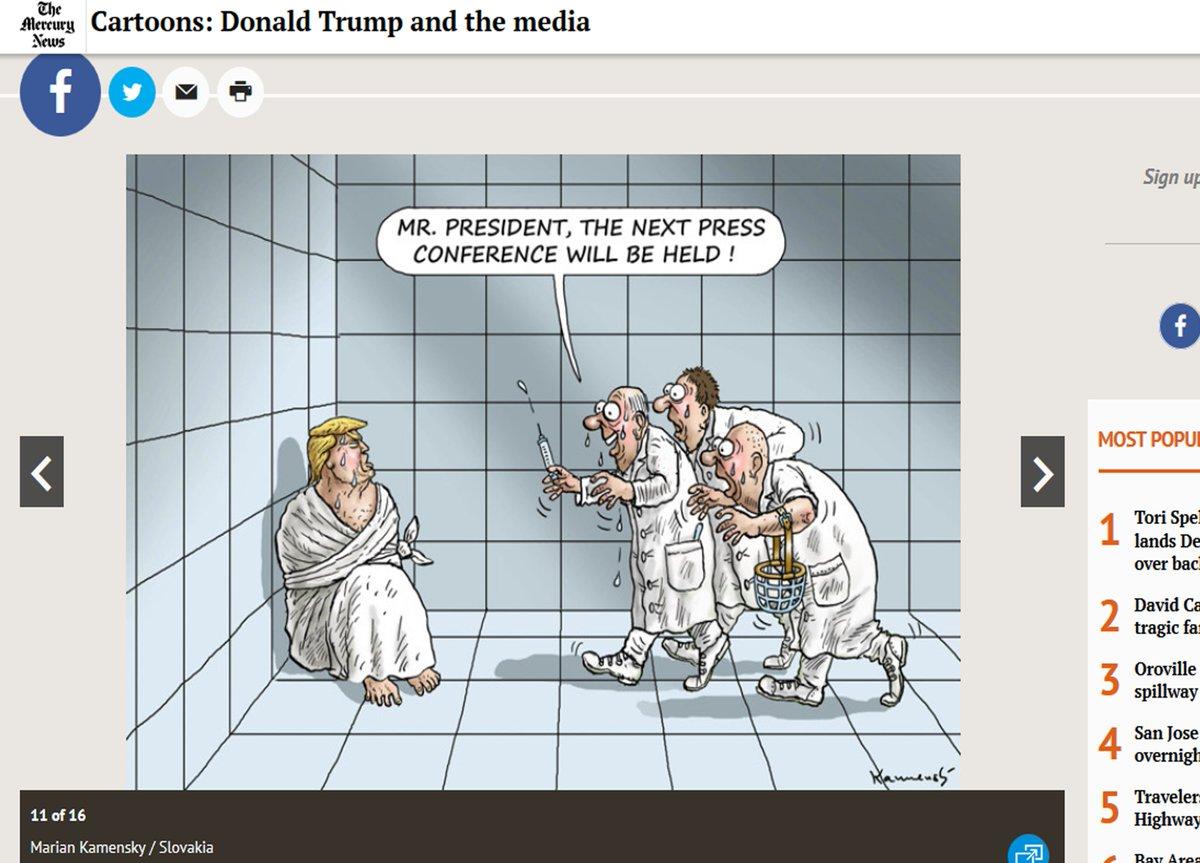 #TrumpPressConference.... By @MarianKamensky1 @BLIKOPENER333  https://...