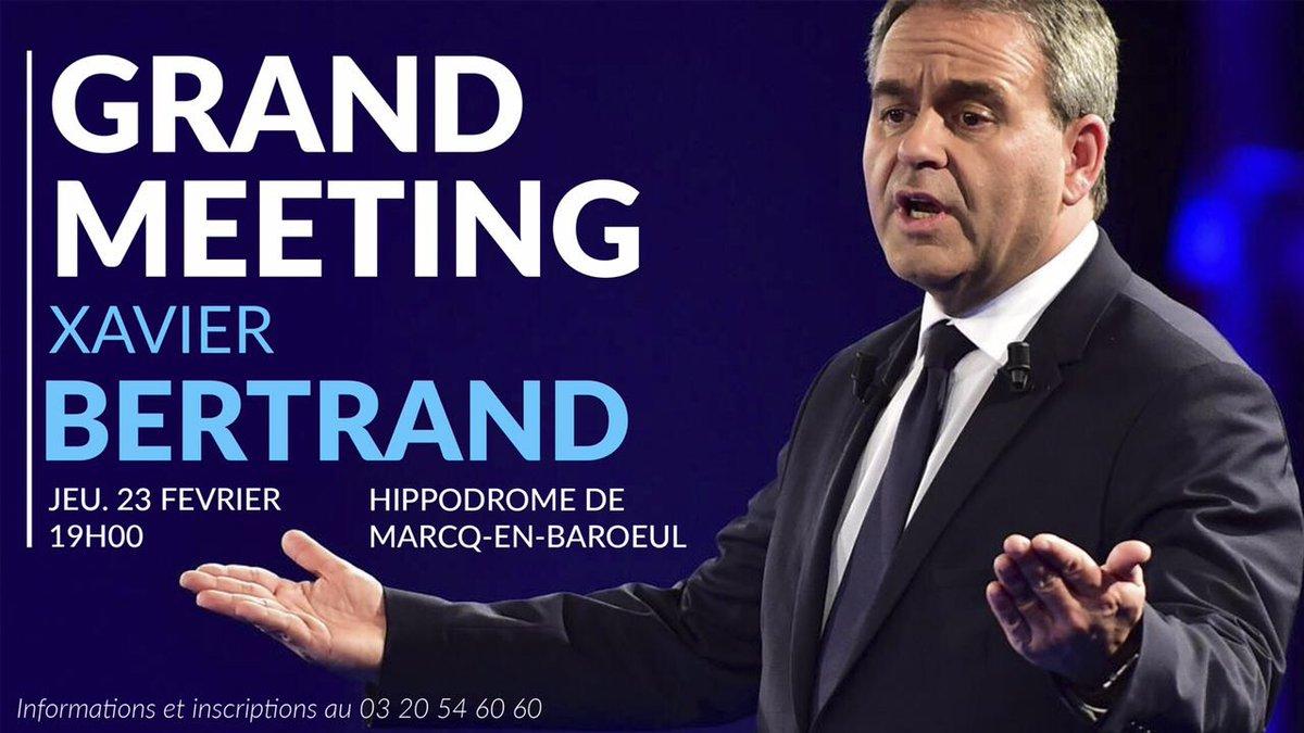 Jeudi, nous serons au grand meeting de @xavierbertrand en soutien à @FrancoisFillon à @villedemarcq ; et vous ? #AvecXB #Fillon2017 <br>http://pic.twitter.com/w4efqMUwug