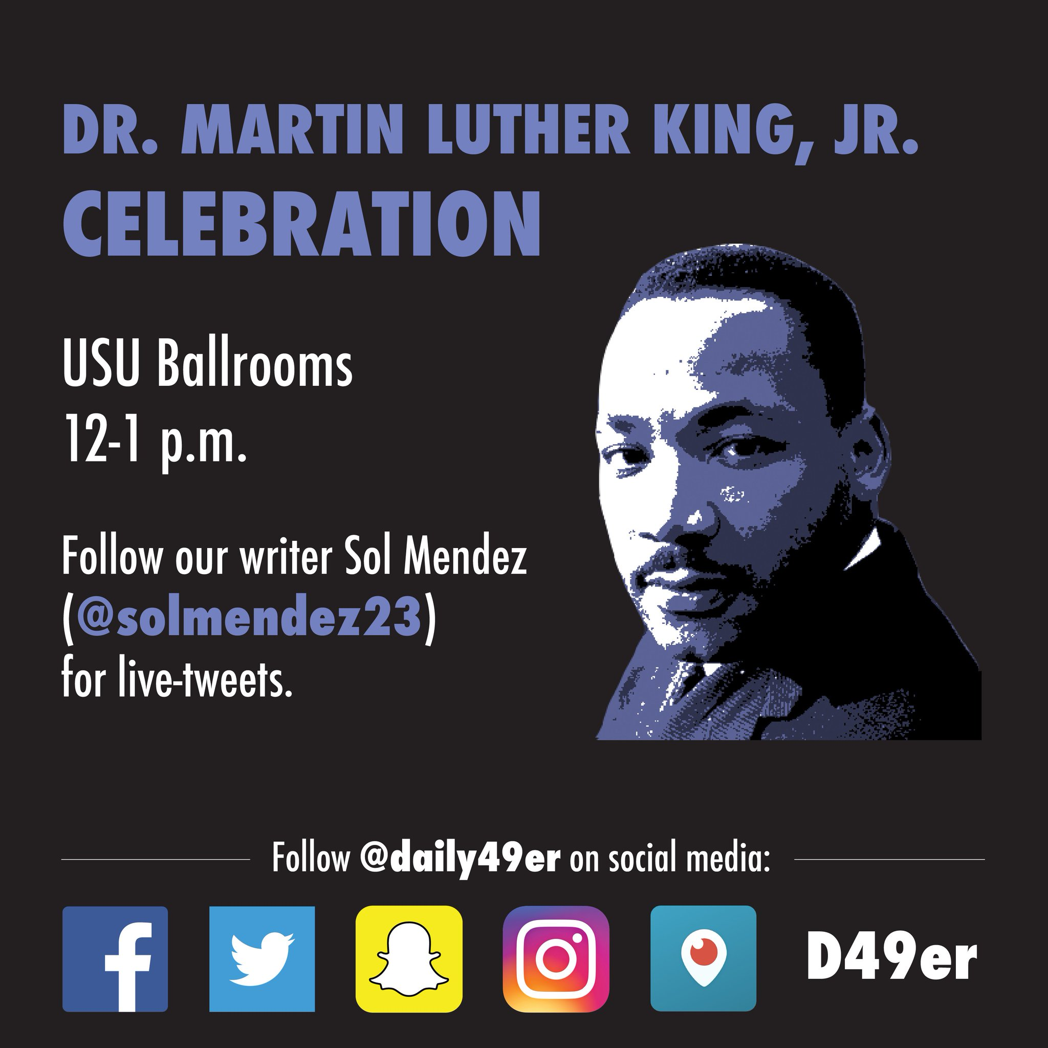 Follow @SolMendez23 for live-tweets from the Martin Luther King Celebration today at 12 p.m. #MLK #CSULB #49erNow https://t.co/BFkL757Spt