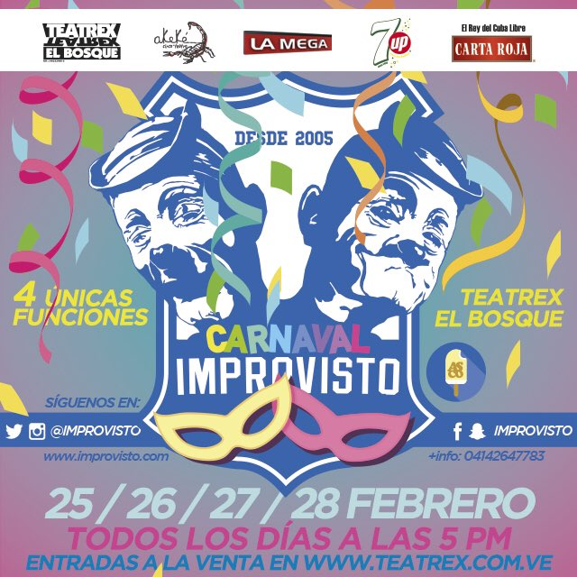 No te pierdas Plan de Carnavales 2017 @Improvisto en @TEATREX #ElBosque <br>http://pic.twitter.com/tbWXR0WqjW